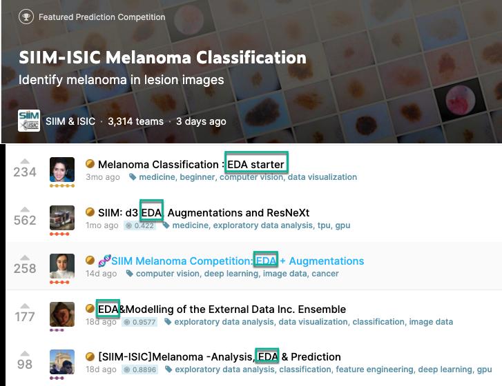 SIIM-ISIC Melanoma Classification competition Notebooks on kaggle