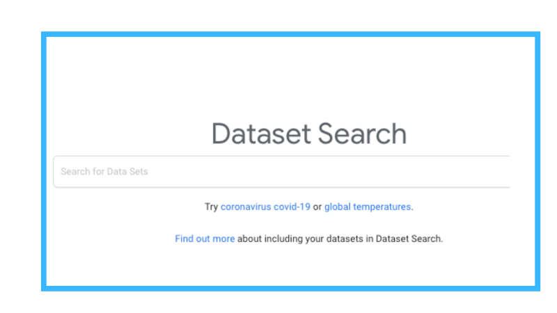 link to google dataset search tool